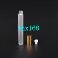 20 x 10ml Empty Glass Roll-on Bottiglia Frosted Profumo contenitori riutilizzabili in vetro / vetro coppe d'oro Coperchio Packaging cosmetico