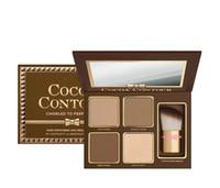 새로운 메이크업 COCOA 컨투어 하이 라이터 팔레트 누드 컬러 페이스 컨실러 부르 키 브러쉬 DHL Shipping을 사용한 초콜릿 아이 섀도우