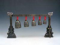 Dekoration Handwerk Chinas kostenloser Versand Meditation Gong mit 7 verzierten Glocken mit Dragon Design