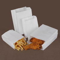 15x10x5cm white Kraft Paper bag Oil proof French Fries Fried...