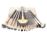 Set de cepillo de maquillaje de oro de Champagne 12/18 PCS Soft Synthetic Professional Cosmetic Maquillaje Fundación Polvo Blush Pinceles