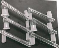 6 stili in vetro narghilè Adattatore a discesa Adattatore maschio ad adattatori a discesa femmina 14mm 18mm Conventore per impianti di petrolio DAB