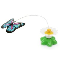 Cat Toys Electric Rotating Colorful Butterfly Funny Pet Seat ScratchToy para gatos gatito 8 x 5,5 cm