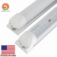 통합 T8 주도 튜브 라이트 더블 사이드 4피트 8피트 천장 램프 LED 상점 조명 튜브 AC 85-265V 모든 액세서리 + 재고 미국