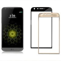 Para LG G5 Vidrio templado 3D Borde curvado Cubierta completa Borde suave Película protectora de pantalla roja para LG G5