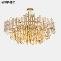 Luxurious Crystal Chandelier Light Gold Crystal Hanging Lamp...