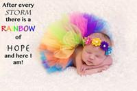 도매 유아 의류 세트 머리띠 사진 의류 유아 옷 0-4M 1651 35 색상으로 신생아 핸드 메이드 투투 스커트