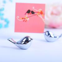 금속 사랑 버드 플레이스 카드 홀더 패션 웨딩 부탁 테이블 장식 이름 카드 홀더 DHL 무료 배송