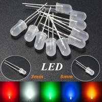 도매 가격 10pcs 3mm / 5mm 라운드 톱 유방 확산 LED 에미 터 다이오드 라이트 DIY Led 세트 레드 / 그린 / 블루 / 옐로우 / 화이트