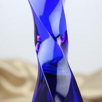 23CM تويست كريستال الكأس كأس الإبداعية تخصيص جائزة كأس الترويج تشجيع تذكارية