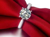 Engagement 2ct NSCD Diamond Ringe für Frauen 925 Silber Schmuck Solitarie Ring Jubiläumsgeschenk 18 Karat Weißgold plattiert