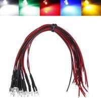 MIX DC12V Acqua Clear 5mm Pre Wired LED Diode per Natale, Auto, Decorazione ecc