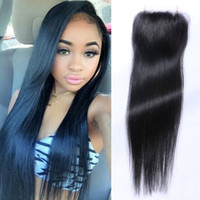 Best quality 4*4 dosures Lace closure straight Hair Lace Clo...