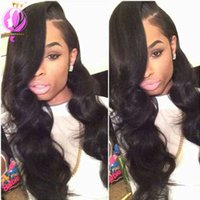 Unprocessed Human Hair With Lace Closure Body Wave Free Part...
