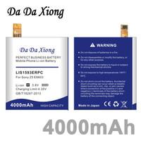 Da Da Xiong 4000 mAh LIS1593ERPC Pil Sony Xperia için Z5 E6603 E6653 E6633 E6683 E6883