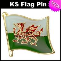 Pin de la bandera de la insignia de la bandera de Gales 10pcs mucho Envío libre KS-0242