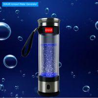 KIKAR водорода воды чайник компактный ионизатор генератор стеклянная бутылка 400 мл BPA бесплатно H3O Ион электролиза системы колбу Пи палку портативный бустер