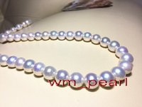 "Fine Pearls Jewelry Australia top 17 ""12-14mm REAL south sea Perfetto tondo BIANCO collana di perle 14K"