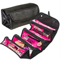 Roll Makeup Cosmetic Foldable Bag Travel Buddy Pouch 4 Zippered Elements Organizer Бесплатная доставка по всему миру