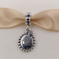 Authentic 925 Sterling Silver Beads Sweet Sister Dangle Charm Charms Fits European Pandora Style Jewelry Bracelets & Necklace 791126CZ