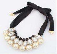 Girls fashion faux pearls Necklaces wholesale kids wedding p...
