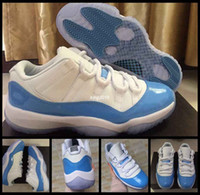 2017 Low 11 UNC White University Blue Mens Basketball Shoes ...