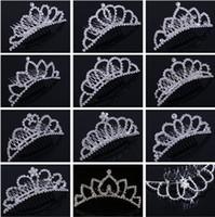 Strinest Strass Crown Crown filles 'Mariée Tiaras Couronnes Mode Crowns Coiffe Coiffes de mariée Headpieces Accessoires Joa bijoux pour mariage
