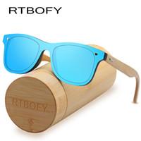 Occhiali da sole in legno RTBOFY per donna Occhiali da vista in bambù Occhiali in legno fatti a mano, con custodia regalo in bambù