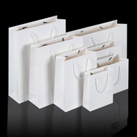 White Black kraft paper bag with handle Wedding Party Favor ...