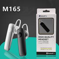 M165 الساخنة اللاسلكية سماعة بلوتوث ستيريو سماعة مصغرة لاسلكية بلوتوث handfree عالمية لجميع الهواتف