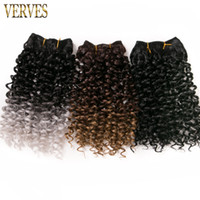 hair synthetic weaving 65g pack VERVES curly Braid ombre bra...