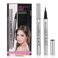 Yanqina Марка подводка макияж Водонепроницаемый черный карандаш для глаз Precision Liquid Eye Liner 2ML Не Цветущий Долговечность Easy Dry EMS DHL 8634
