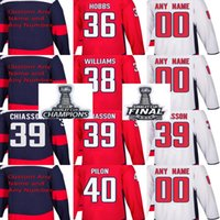 2018 Stanley Cup Champions Final Patch Hombres Washington Capitals Connor Hobbs Colby Williams Alex Chiasson Garrett Pilon Custom Hockey Jerseys