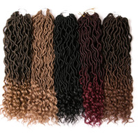 Goddess Locs 18 inch Crochet Hair Extensions 7 pack 24 stran...