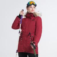 Novo 2018 Inverno Jaqueta de Esqui Marca Original Mulheres Jaqueta de Snowboard À Prova D 'Água Quente Casaco Térmico Feminino Terno de Esqui de Montanha para As Mulheres AA5