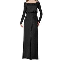 Plus Size Autunno Inverno Donna abito lungo Elegante stampa Off spalla manica lunga Maxi Abiti Vintage Midi Dress Abbigliamento donna