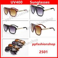 الفاخرة 2501 نظارات ماركة مصمم الرجال النساء أزياء نظارات uv حماية عدسة أعلى جودة مع المربع الأصلي