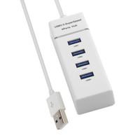Freeshipping Portable USB 3.0 4 porte HUB Hub USB Splitter Adapter per PC Notebook Mac desktop portatile