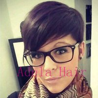 2018 Pixie Cut new hairstyles Human Hair wigs full lace lace...