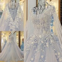 Graceful A- Line Wedding Dresses Scoop Lace Appliques Beaded ...