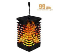 Solar Flame Lights Hanging Lantern Lights Outdoor Solar Path...