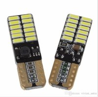 T10 W5W CanBus High Bright 750 Lumens Error Free 4014 24SMD LED 5W Car Front Side Marker Door License Plate LED Lights