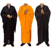 3 cores zen roupão budista lay monge meditação vestido monge treinamento uniforme terno colocar roupas budistas conjunto