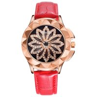 New Fashion Ladies Quartz Watch Turntable Rhinestones Analog...