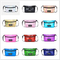 12styles Pink Waist letter Bag Laser Fanny Pack Beach Travel...