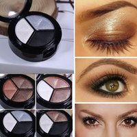 Eyeshadow Palette Smoky Cosmetic Set 3 colores Profesional Mate Natural Sombra de Ojos ABCD