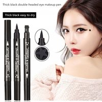 Womens Fashion Wasserdicht Seal Double Eyeliner Make-up Eyeliner Tattoo