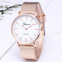 En gros 50 pcs Mix 4 Couleurs en alliage Genève montre dames de Noël Mesh ceinture montre à quartz MW028