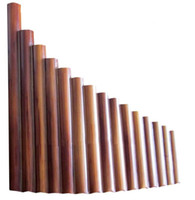 Pan Flute 15 Pipes Natural Bamboo Wind Instrument Panpipe G ...