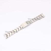 20 de 21 mm de acero inoxidable 316L dos tonos de oro pulsera de plata de la correa de acoplamiento de la venda de implementación de cierre reloj de pulsera sólido Curved End